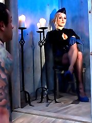 I've tagged Dutch as none other than the Divine Bitches play meat. I'm going to pass this piece of slave meat around from Bitch to Bitch to see what happens just for my amusement. Miss Dia is the quintessential ice queen this day and I've never seen her hone her craft so well! Dutch is made to prove his strength in the form of exercise torture while in a scissor hold, he's flogged and caned then receives an OTK spanking. Dutch is then tied up on a bed of ice as a reminder not to get his dick hard and to forget about his pleasure while made to worship ass. Dia isn't satisfied with just ice and for added security she covers  his cock and balls with clothes pins till Dutch is at his breaking point and Dia cums all over. Dutch is then put in rope bondage and strap-on ass fucked while having his cock and balls milked. Dia let's this tough piece of meat release but only with consequences!