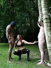 Corded up, naked and vulnerable! Now that's how you turn a naughty little submissive into a cuckold slut! His hard-on needed to be slapped and spanked with Domme Carly's crop, and she truly enjoyed dishing out some special kind of punishment too him