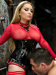 Cock tease, denial, edging and prostate milking are some of my favorite femdom activities and this femdom flick is packed with chisel dripping kindness! Goddess Aiden Starr and Lance attend an Upper Floor party but sneak down to one of the sets to chat. This rapidly turns into Aiden bossing Lance around and soon he finds himself naked, bound and edged over and over again. His guts is relentlessly fapped while cum oozes out and he even explodes from just prostate miking alone! There is pussy and rump worship, handballing, pegging and action, act, action! XO,Maitresse Madeline Marlowe