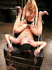 'You smell like fear, little boy.'  Nothing makes Mistress Aiden's pussy more wet than torturing cute little boys like Daniel.  Mistress is expert at combining pleasure and pain, and she makes Daniel work for it, doling out three parts pain, dominance and humiliation to one part pleasure.  Who said she was fair?