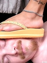 Flip flops trampling