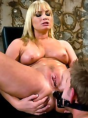 Gorgeous Flower Tucci stuffs his face with her monstrous sexy ass.
