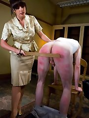 It's Johnny's last day of [REDACTED] and Head Mistress Penny Flame stops by the dorm to administer one final lesson.  Donk paddling, glory crevice Cock Ball Torture, restrain bondage, breast clothespins and cum eating are all on the test.