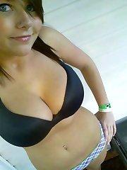 Lovely tits on this brunette teen