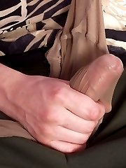 Lewd wife undressing up to her pantyhose in front of her guy before hot sex