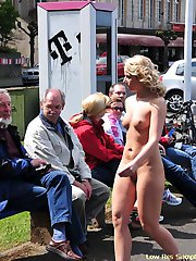 Sweet blondes have fun in streets