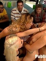 Zoey Monroe is the new babe on the block with a perfect little body, blonde hair, and the need to be used like a fuck doll. Lorelei Lee and Mr. Pete take her out on the town in SF to get bound and fucked for all to see.