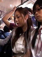 Maki Mizusawa Asian has ass touched inside PublicSexJapan.com