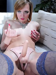 Sissified French maid gets her tight asshole destroyed with a thick strapon