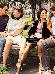 Retro group fucking couples