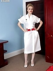 Nurse Michelle in white ff nylons attending to the patients every need!