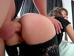 The prospect of having her assed fucked by our guy doesn't scare her!