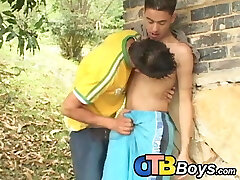 Latino twink raw fucks for facial cumshot after blowing dick