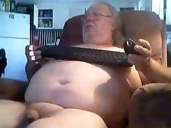 grandpa stroke on web cam