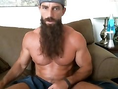 long bearded muscle guy solo #Three