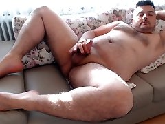 Masturbation Horny Cumshot with Hot Moans