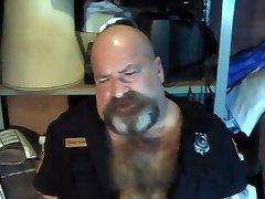 #GAGBEAR -- Officer Grrowl's spunk bowl