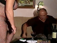 Handsome Swedish Hairy Man with Mature full woman