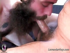2 bearded gay dudes are sucking hard