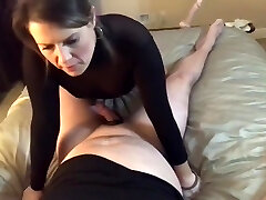 Wife talking about other fellow while getting fucked by husband