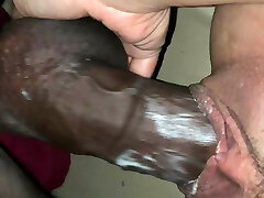 She creams on bbc with cumshot conclude