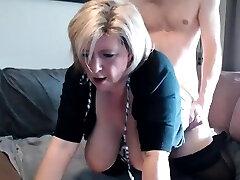 Rhyse Richards immense boobs blonde mature