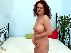 Nice blowjob from red-haired mature
