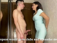 Best intercourse of a stepmom and stepson while her husband earns money on a business journey