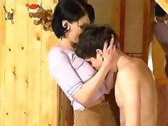 Russian Brunette and a boy