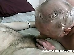 Chubby Grandad Gets His Ass Stuffed