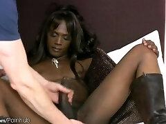 FULL video of Monster cock ebony t-babe getting culo finger-tickled