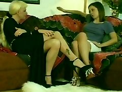 Hot Blonde Shemale & Steaming Teen Brunette Nymph