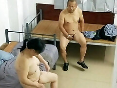 Old Asian Dude With Hooker