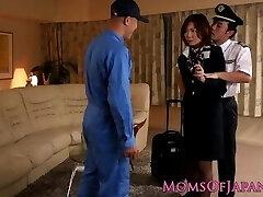 Asian milf flight attendant slammed in ass