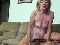 81 years old mommy banged by stepson