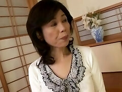 Breasty Japanese granny pummeled inexperienced