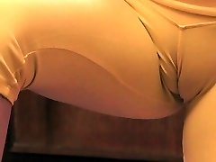 Busty Blond Teen Exposing Giant Cameltoe