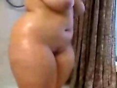 Fat BBW Ex Girlfriend taking a Torrid shower, nice Hooters