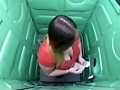 Porta Gloryhole Bbw sucks boner in public