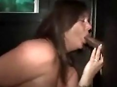 Bbw whore sucks and pulverizes a BBC at the gloryhole