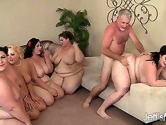 5 Horny BBWs boinked by 3 cocks