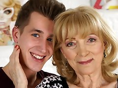 Old dame Magdi is in love with this young dick