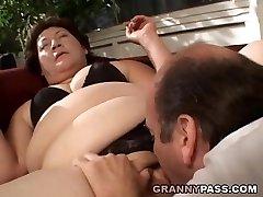 BBW Grannie Gets Her Fat Pussy Slammed
