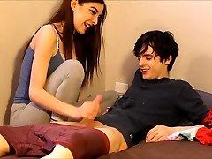 nubile caught her roommate snuffling her panties