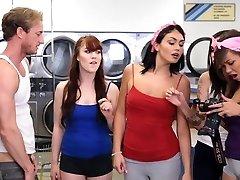 BFFS - college ladies fuck creepy guy sniffing panties