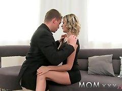 MOM Mature Blonde with Swollen Jugs enjoys a good Shagging
