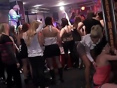 Amateur college doll group orgy in disco
