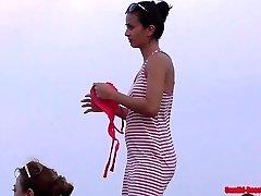 Beach Bikini Dolls Close Up Cunny shots and cameltoes