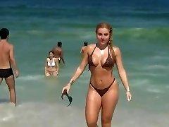 Hot lady on beach