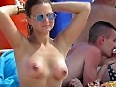 Horny Topless Amateurs Milfs - Hot Voyeur Beach Vid